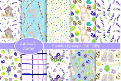 Easter digital paper, Easter Watercolor seamless pattern