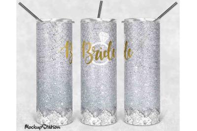 Bride 20oz Skinny Tumbler Sublimation Design PNG