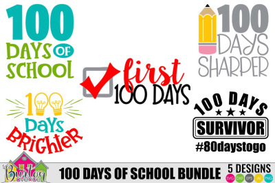 100 Days of School SVG Bundle | SVG Files