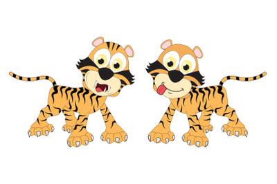 cute tiger animal cartoon