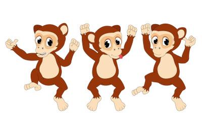 cute monkey animal cartoon