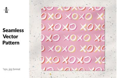 Xoxo seamless pattern
