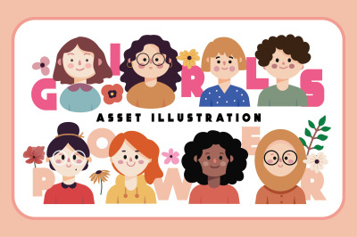 Girls Power Asset Illustration