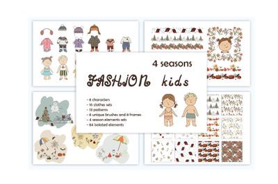 """Fashion Kids"" Graphic Pack"