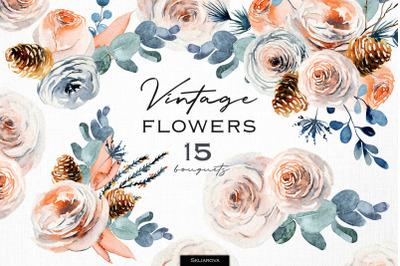 Vintage floral bouquets