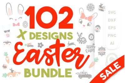 Easter SVG Bundle - 102 SVG Cut Files | Spring SVG Bundle