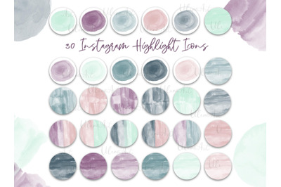Neutral watercolor Highlight Covers Modern Boho Instagram Icons blog s