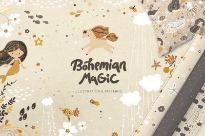 Bohemian magic illustration