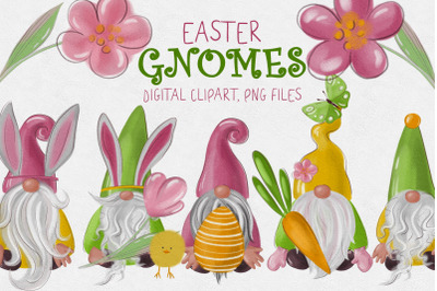 Easter gnomes clipart