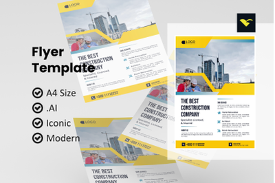 Business construction flyer template