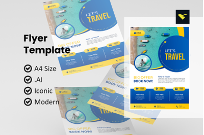 Traveling agency flyer template
