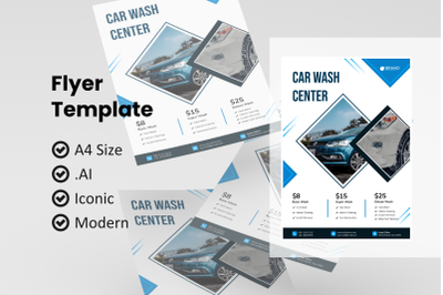 Business carwash flyer template