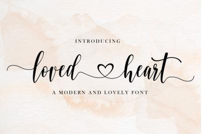 Loved Heart | Beautiful Script