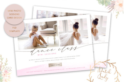 PSD Photo Session Card Template #74