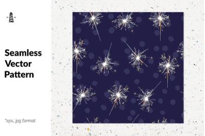 Sparklers seamless pattern