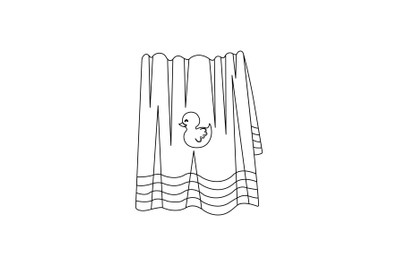 Towel Swimming Pool Outline Icon