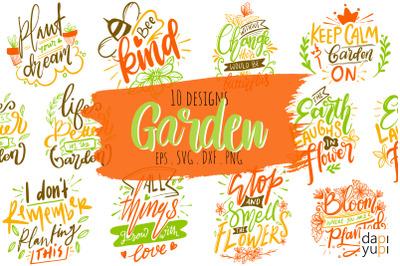 Garden Lettering Quotes Bundle