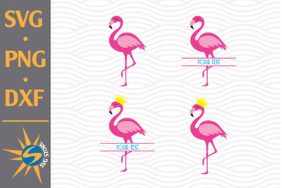 Flamingo, Split Flamingo SVG, PNG, DXF Digital Files Include