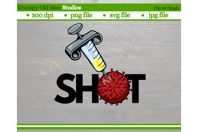 covid vaccine and virus clip art | coronavirus vaccine shot cut file |