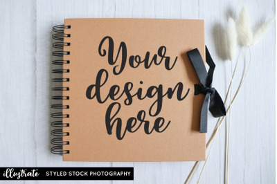 Scrapbook Album Mockup | Wedding Album Mockup | Kraft Album Mockup
