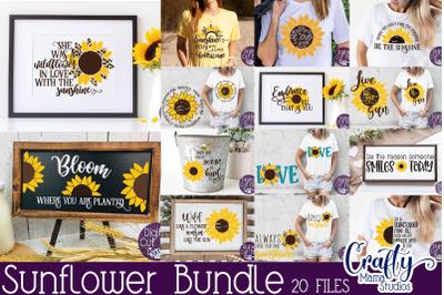 Sunflower Svg Bundle, Sunflower Quote Svg, Summer Flower