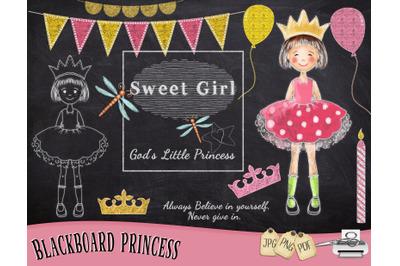 Princess Chalk Art