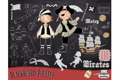 Pirate Chalk Art
