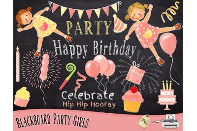 Party Girl Chalk Art