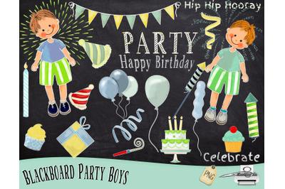 Party Boy Chalk Art