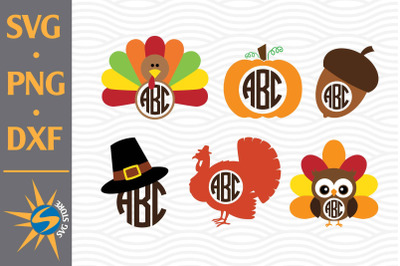 Thanksgiving Monogram SVG, PNG, DXF Digital Files Include