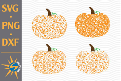 Swirl Pumpkin SVG, PNG, DXF Digital Files Include
