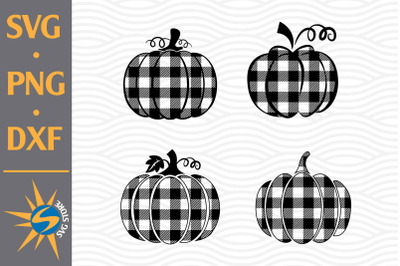 Plaid Pumpkin SVG, PNG, DXF Digital Files Include