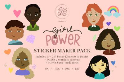 Girl Power Sticker Maker Pack