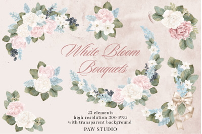 Wedding Flowers Frames Bouquets Borders Peonies Roses Clipart