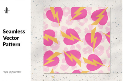 Wild hearts seamless pattern