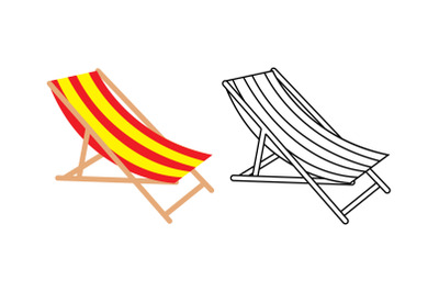 Sun Lounger Fill Outline Icon