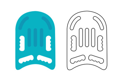 Swimming Board Fill Outline Icon