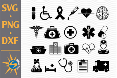 Nurse Silhouette SVG, PNG, DXF Digital Files Include
