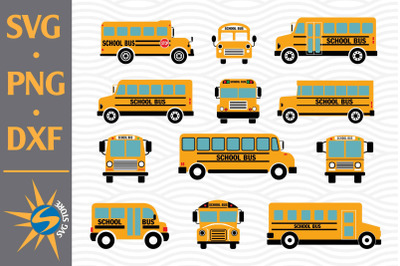 School Bus SVG, PNG, DXF Digital Files Include