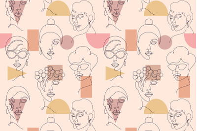 Faces and geometric shapes