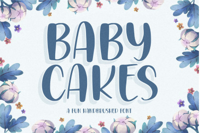 BABYCAKES Fun Handbrushed Font