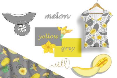 Digital Melon Set Yellow / Gray