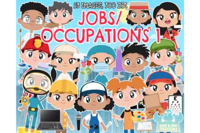 Jobs/Occupations 1 Clipart - Lime and Kiwi Designs