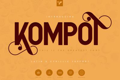 Kompot Sans - 2 fonts