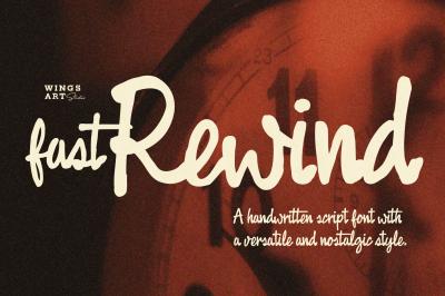 Fast Rewind: 1950s Inspired Brush Script Font