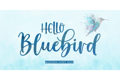 Hello Bluebird Font Duo