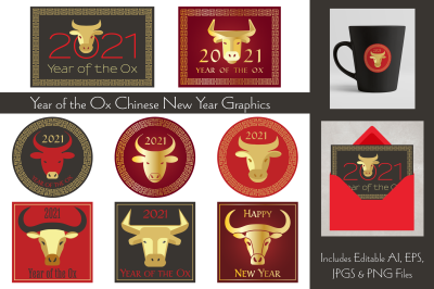 Year of the Ox Chinese New Year Graphics