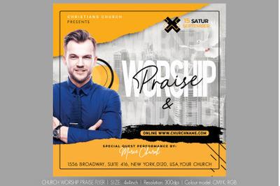 Church Worship Praise Flyer