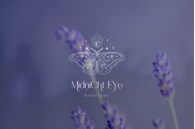 Premade Mystic Butterfly Brand Logo Design for Blog or Small Business.