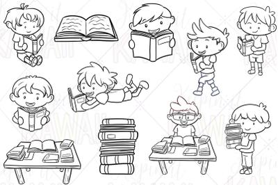 Reading Boys Digital Stamps
